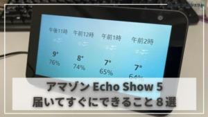 【アマゾン Echo Show 5 (エコーショー)】できること8選 | プライムビデオやYoutubeだって声だけで簡単...