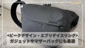 ピークデザイン エブリデイスリング 6L レビュー   ポケットが多くてガジェットバッグやマザーズバッグ...